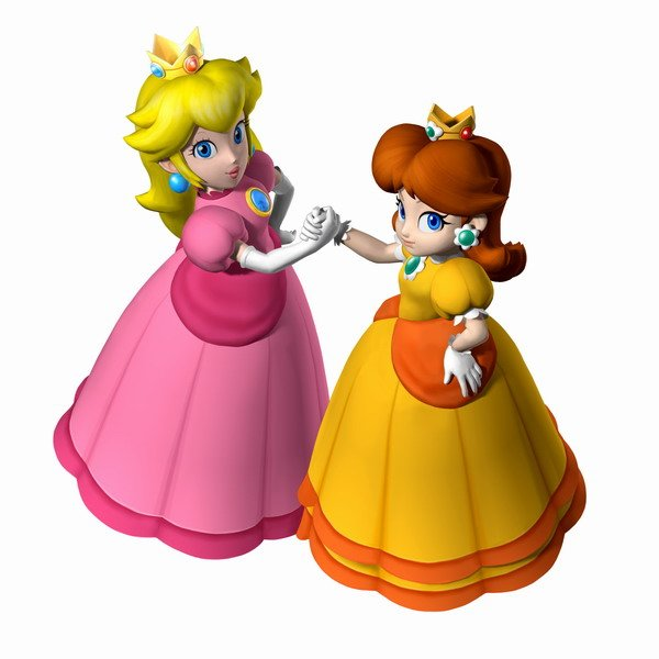 peach and daisy
